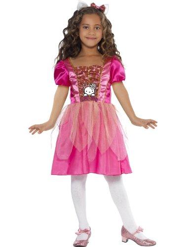 Prinzessin Kitty Kostüm Hello - Original Lizenz Hello Kitty Kostüm Kittykostüm für Mädchen Katze Prinzessin Kleid Gr. 110-122 (S), 128-134 (M), Größe:M
