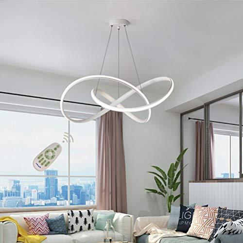 LED Esstisch Esszimmerlampe Pendelleuchte Wohnzimmerlampe Hängelampe Dimmbar 3000K-6500K Acryl-Shirm Modern Designer Dekor Hängeleuchte Höhenverstellbar Wohnzimmerleuchte Schlafzimmer Bad Kronleuchter