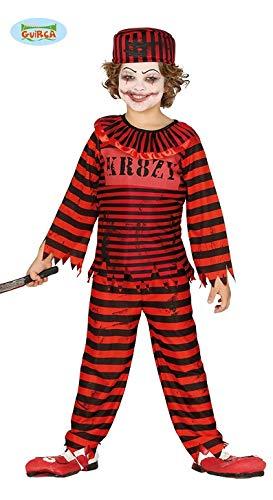 Psycho Horror Clown für Kinder Halloween Killer Verrückt Killerclown Gr.110 - 146, Größe:140/146