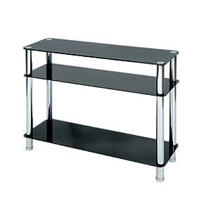 levv fuconbch konsolentisch aus schwarzem glas und chrom k che haushalt. Black Bedroom Furniture Sets. Home Design Ideas