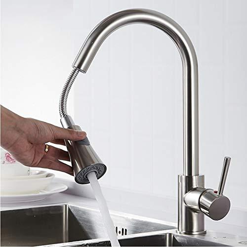 LLLYZZ Ziehen Küche Wasserhahn Schwarz Wasserhähne Küchenarmatur Jet/Weiche Fluss Wasser Schalter Zwei Möglichkeiten Wasser Outlet
