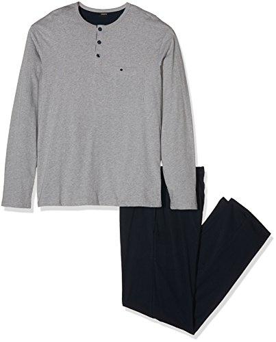 Herren-langarm-haut-anzug (Seidensticker Herren Zweiteiliger Schlafanzug Anzug Lang, Grau (Grau-Mel. 202), Medium (Herstellergröße: 050))
