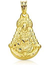Medalla silueta Virgen del Rocío 27 mm en oro de 18 Ktes