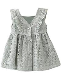 6eb65807b Amazon.es: volantes - Vestidos / Niñas de hasta 24 meses: Ropa