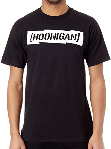 Hoonigan Schwarz Gymkhana Ten Censor Bar T-Shirt (X-Large, Schwarz)