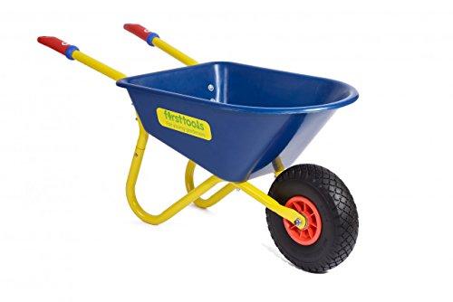TOLO Schubkarre 'neues Modell' / Kinderschubkarre (Länge: 93 cm / Höhe: 41 cm / Gewicht: 4,3 kg / Farbe: blau) 3+