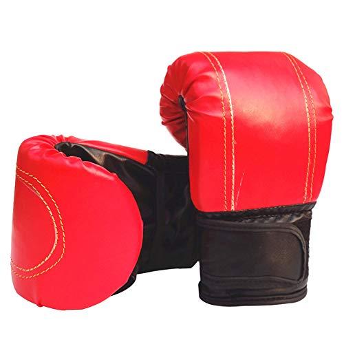 Verlike Boxhandschuhe für Männer und Frauen Training Pro Punching Heavy Bag Mitts UFC MMA Muay Thai Sparring Kickboxhandschuhe, rot (Ufc-offizielle Handschuhe)