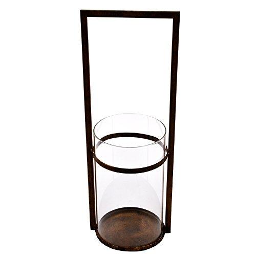 Dadeldo Living & Lifestyle Windlicht Golden-Delight Design Metall-Glas gold (50x18x15cm)