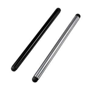 Stylet/Stylo D'entrées Pour BQ Aquaris M10 (Pack De 2, Noir Argenté)adapté seulement pour les écrans capacitifs