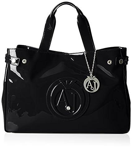 Armani Jeans Borsa Shopping, Women's Satchel, Schwarz (Nero), 26x14x40 cm (B x H T)