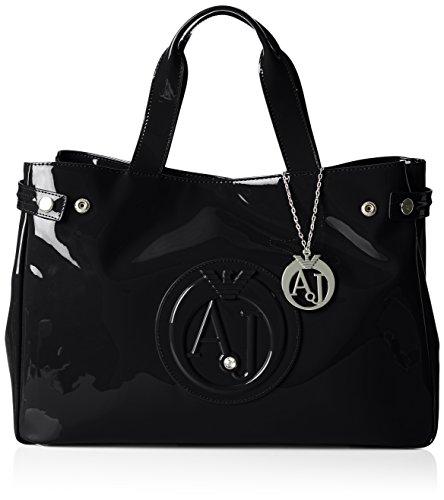 Armani Jeans922591CC855 - Borsa shopper Donna , Nero (Schwarz (NERO 00020)), 26x14x40 cm (B x H x T)