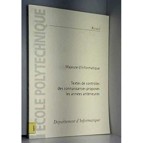 Textes de contrôles des connaissances proposés les années antérieures : 2e année, majeure 2