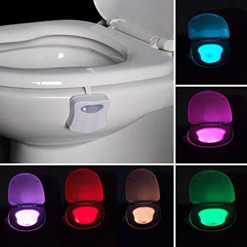 Zymt luce per wc luce colorata sensore di movimento pir luce notturna a led per appendere la ciotola con impostazione colore a batteria