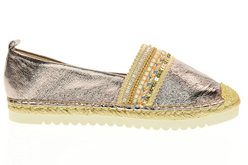 GOLD&GOLD chaussures Espadrilles DS68 SILVER Argent