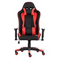Racoor Video Gaming Chair, Black and Green - 134H x 71W x 71D cm