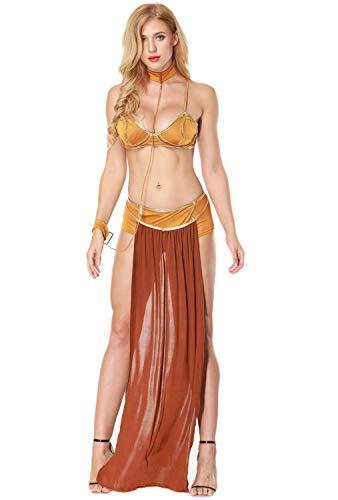 Tanz Nachthemd Kostüm - Fortuning's JDS® Frauen-reizvolle arabische Wäsche-Kleid-Kragen-Armband Cosplay Tanz-Kostüm (4Pcs)