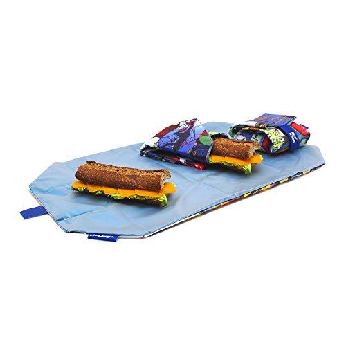Roll'eat Boc'n'Roll Teens Boys Stereo, Porta bocadillos reutilizable, bolsa merienda, BPA Free, Multicolor (stereo)