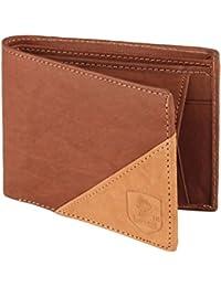 LANDER Men's Brown Stylish 100% Genuine Leather Wallet