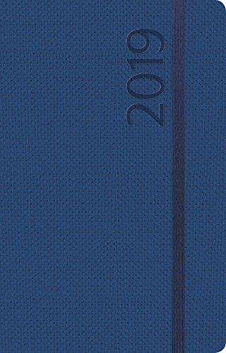 Agenda Struktur dunkelblau S 312519 2019: Terminplaner klein. Terminkalender als Ringbuch mit Wochenkalender, Gummiband und Jahresplaner 2019 - 8 x 12,5 cm