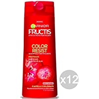 Set 12 FRUCTIS Champú Color Resist Ml250 Pelo Y El Tratamiento