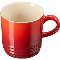 Le Creuset Stoneware Cappuccino Mug, 200 ml, Cherry, 70303200600099