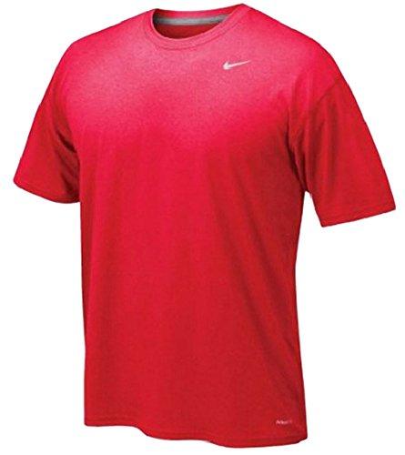 Nike Herren kurzärmliges Shirt Legend Dri-Fit rot / grau