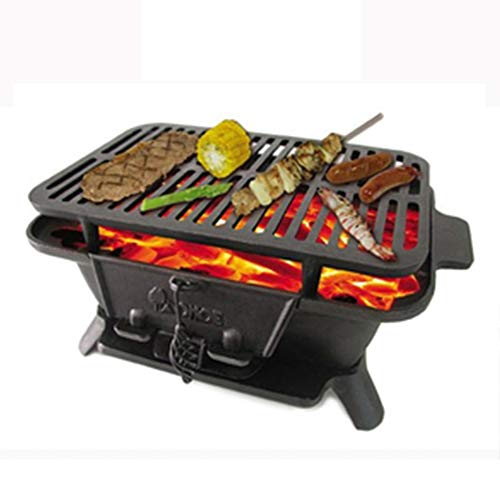 Cast Iron Sportsman es Grill, große Kohle Stil Heavy-Duty Park-Stil Grill für Picknicks, Tailgaiting, Camping oder Patio, Best of Barbecue - Kohle Gusseisen Grill