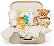 Baby Box Shop - Cesta regalo bebé para baby shower con todo lo esencial para bebes recién nacidos con osito de