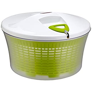 Leifheit Salatschleuder ComfortLine mit Rechts-/links-Drehmechanismus im Deckel, Salattrockner inklusive Salatschüssel und Sieb, trocknet den Salat effektiv & schonend