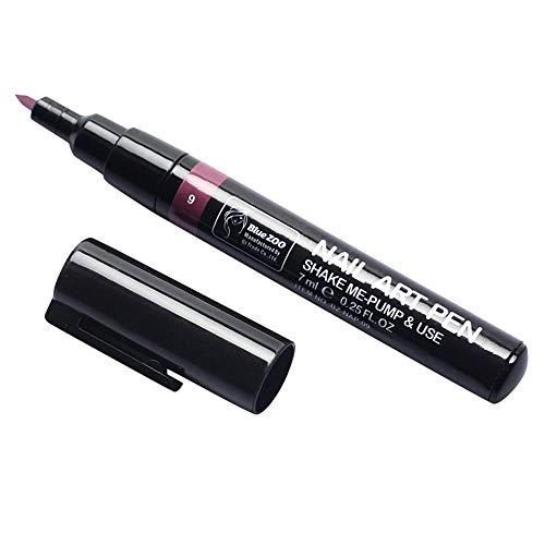 AMhomely 1 Stück 3 in 1 Schritt Nagelgel-Lackstift Schritt Ein Schritt Einfach zu verwendendes UV-Gel - Nail One Step Nagellack Stiftform QQ Nagellack Kleber 17 Farbe Nagelmalstift (I) (2019 Nägel Halloween)