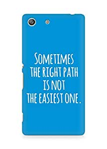 AMEZ the right path is not easy Back Cover For Sony Xperia M5