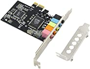 GODSHARK PCIe Sound Card, 5.1 Internal Sound Card for PC Windows 8 7 with Low Profile Bracket, 3D Stereo PCI-e