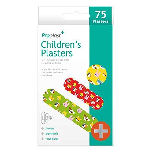 75 x Animal Pour enfants Pansements Assortiment De Tailles Divers Animal Motifs Couleurs