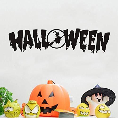 f Halloween Zitate Wandtattoos Festival Diy Aufkleber Abnehmbare Pvc Tapete Dekoration Türspiegel Wandaufkleber 120 * 30 Cm ()