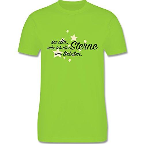 Familie - Spruch Freundschaft -Sterne - Herren Premium T-Shirt Hellgrün