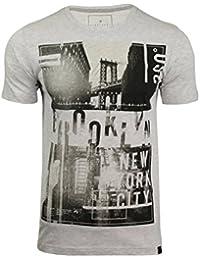 Dissident Mens Brooklyn Bridge Graphiic Print T-Shirt by Brook Bridge'