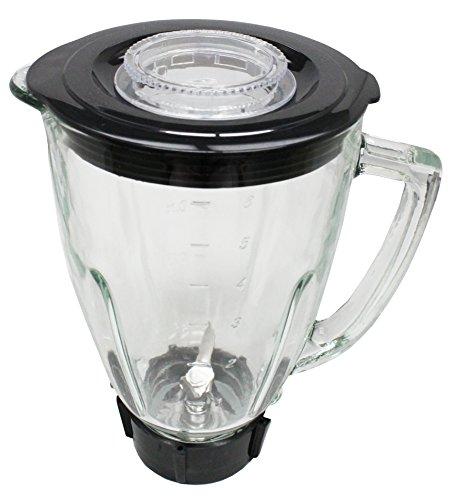 Mixer Glas Set Die Best Ersatz 6Stück Oster Blender Teil komplett Glas Blender Jar Ersatz-Kit, kompatibel mit Oster Mischer 1.3 Liter - 5.6 Cup glas - Oster-glas-mixer-glas