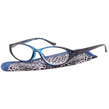 Foster Grant Eyesential Women's Cat-Eye Reader with Zebra Print Case +1.25 by (Zebra Eye)