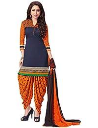Shree balaji's women cotton unstitched dress material with dupatta multicolour