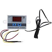 Controlador Digital de Temperatura con Sensor Impermeable Pre-cableado Termostato de Salida Digital, 2 Etapas de Calefacción y Refrigeración