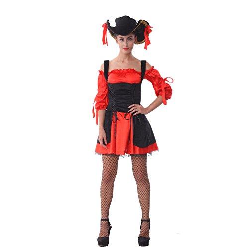 Captain Kostüm Sexy Piraten - Sexy Ladies Captains Schatz Karibik Piraten-Halloween-Kostüm