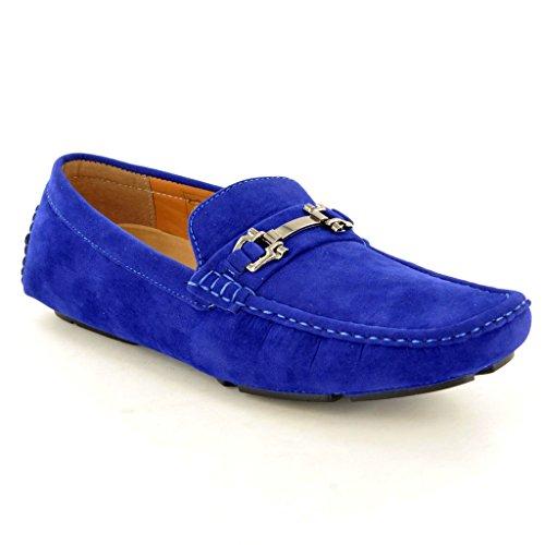 New Herren Casual Loafer Mokassins Slip auf Schuhe Blau