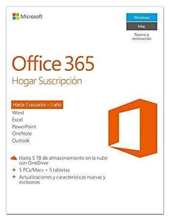 Microsoft Office 365 - Hogar Suscripción De 1 Año En Español