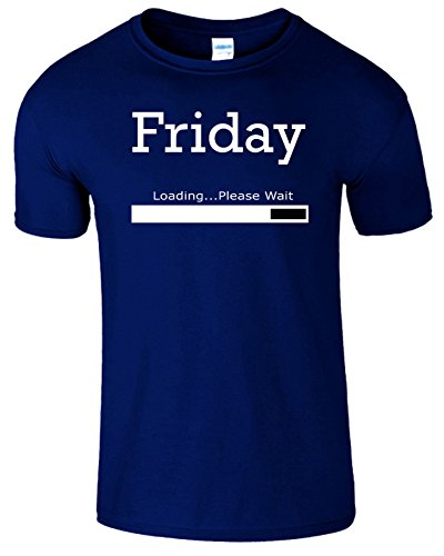 Friday Loading Weekend Frauen Der Männer T Shirt Marine Blau / Weiß Design