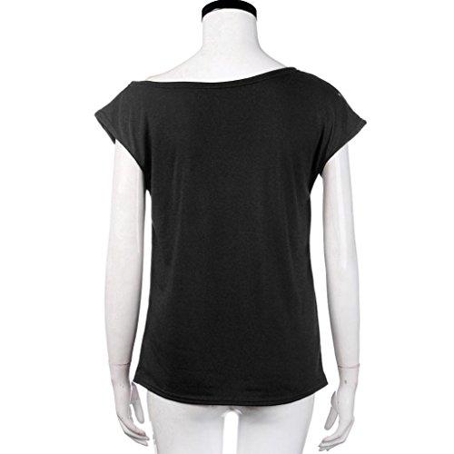 Bluse Damen,VENMO Lose T-Shirt Aus Schulter Lässige Bluse Schwarz ...