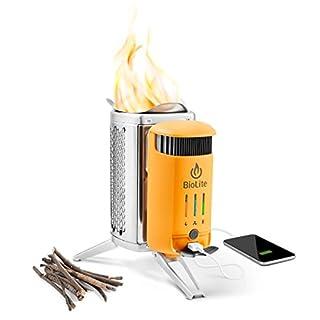 BioLite Revolutionärer Camping-Kocher mit Akku, USB-Ladeausgang &Amp Flexlight, Grün, M