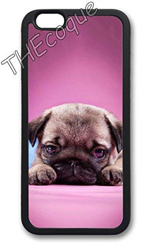 Coque silicone BUMPER souple IPHONE 5/5s/SE - bulldog chien dog CASE tpu DESIGN + Film de protection INCLUS 3