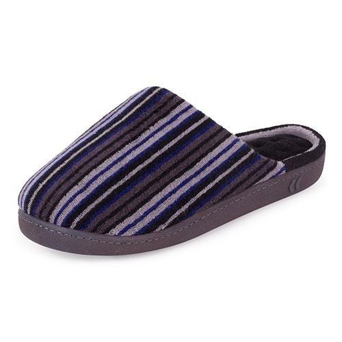 isotoner-herren-streifen-mule-slipper