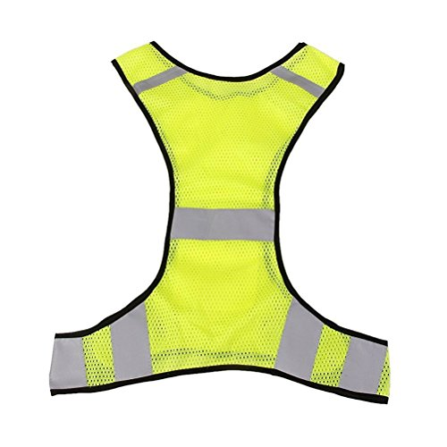 Rosenice High Visibility Safety Vest Reflective Jacket For Running Jogging Walking Bike