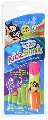 Brush Baby Brosse à dents électrique sonique pour enfant Rose